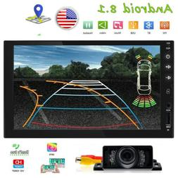 Backup Camera+Android 8.1 GPS Double 2 Din Car Stereo Radio