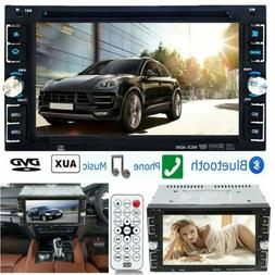 """Bluetooth Car Stereo DVD CD Player 6.2"""" Double 2Din Radio iP"""