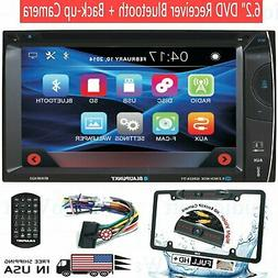 "Audiotek CAR AUDIO DOUBLE DIN 6.2"" TOUCHSCREEN LCD DVD CD MP"