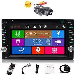 """Free Car Rear View Camera + Double Din 6.2"""" Touch Screen in"""