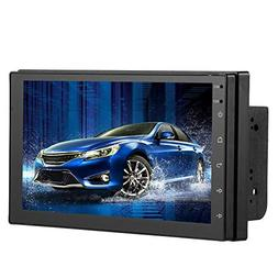 Car Stereo Audio Double Din Radio, 7 Inch LCD Touchscreen Mo