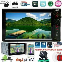 Car Stereo Bluetooth Radio 2 Din CD DVD Player MirrorLink Fo