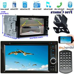 Car Stereo CD DVD Player Double DIN Mirror Link w/ Camera Fo