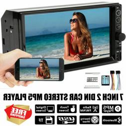 """Car Stereo Double 2DIN 7"""" Mirror Link Bluetooth Audio MP5  P"""