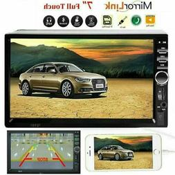 """Car Stereo Radio Audio Receiver Double 2 Din 7"""" Touch Screen"""
