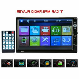 Carlike Double Din Car Stereo,7 Inch Touch Screen Car Radio
