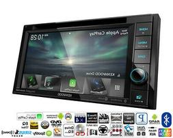 """Kenwood DDX5706S 6.2"""" Double Din DVD Receiver with Apple C"""