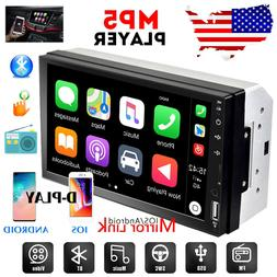 """Double 2 Din 7"""" Car Radio Apple/Andriod Car Play Touch Scree"""