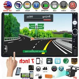 Double 2 Din 7'' Touch Screen Car Stereo IOS/Android Bluetoo