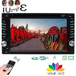 Double 2 DIN Car Stereo DVD Player with 3 Types of Design UI
