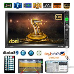 "Double 2 Din Car Stereo Radio 7"" In-dash Touch Screen MP5 Pl"