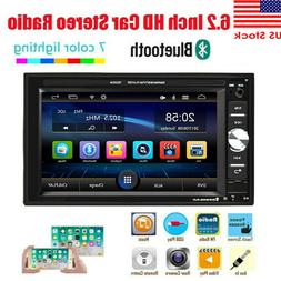 "Double 2Din 6.2"" Car Stereo Radio Mirror Link MP5 Player FM"
