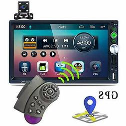 Double Car Video Din GPS Stereo Radio 7'' TFT Capacitance To