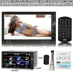 """Double DIN 2DIN 7"""" Touchscreen Car Stereo MP5 CD DVD Player"""