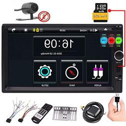 Double Din 7'' Car Video Player GPS Navigation Car Stereo fo