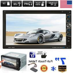 Double DIN 7 Inch In dash Car Stereo Radio CD DVD LCD Player