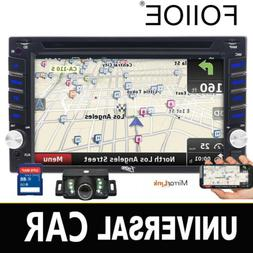 "Double Din Car 6.2"" DVD/Bluetooth Player Navigation Backup C"
