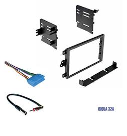 ASC Double Din Car Stereo Dash Kit, Wire Harness, Antenna Ad