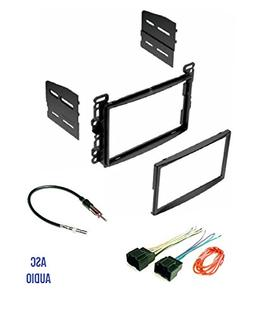 ASC Audio Double Din Car Stereo Dash Kit, Wire Harness, and