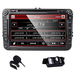 HD 8 Inch Double Din Car Stereo GPS DVD Navi for VW Jetta Pa
