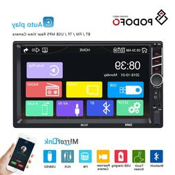 Double Din Car Stereo Radio 7'' Touch D-Play MP5with Bluetoo