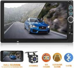 Double Din Car Stereo,Upgraded 7 Inch Touch Screen Car MP5 P