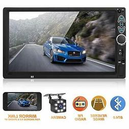 Double Din Car Stereo,Upgraded Version 7 Inch Touch Screen C