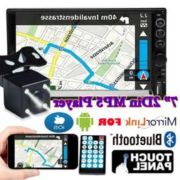 Double Din Car Stereo With Backup Camera Touch Screen Radio