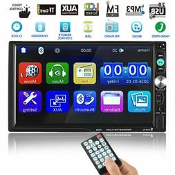 "Double Din Touch Screen Car Stereo 7"" HD MP3 MP5 Player In"