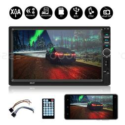 """Double DIN 7"""" Car Stereo Bluetooth MP5 MP3 Player In-dash Ra"""
