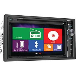 6.2 in. Double-DIN In-Dash LCD Touchscreen DVD Receiver in B