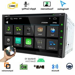 "DVD 7"" Double 2Din Android 10.0 Car Radio Audio Stereo GPS N"