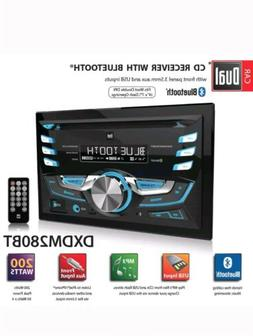 electronics dxdm280bt cd receiver with bluetooth double