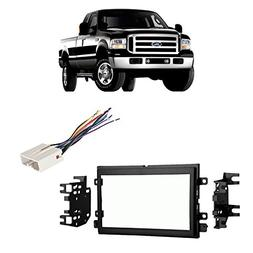 Fits Ford F-250/350/450/550 2005-2007 Double DIN Harness Rad