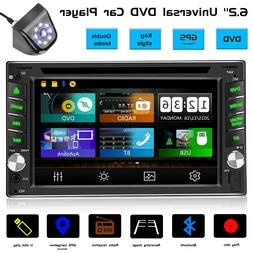 GPS Double 2*Din Car Stereo Radio CD DVD Player Bluetooth wi