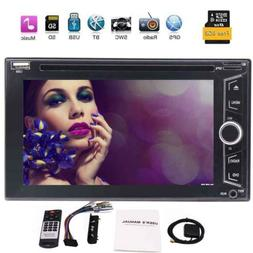 GPS Map Double 2DIN 6.2'' Car Radio DVD CD Touch Screen In D