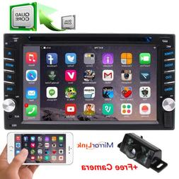 "GPS Navi 4G WiFi Double 2Din 6.2"" Smart Android Car Stereo D"