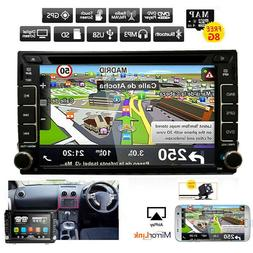 GPS Navigation Double Din InDash Car DVD Radio Stereo Player