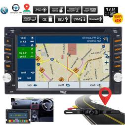 GPS Navigation w/Map Bluetooth Radio Double Din Car Stereo D