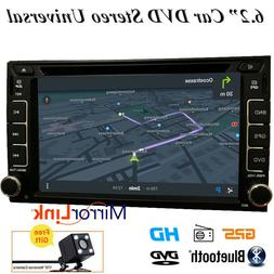 "GPS Navigation With Map Bluetooth Radio Double Din 6.2"" Car"