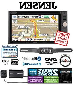 "Jensen VX7020 6.2"" Navigation DVD Receiver with SiriusXM SXV"