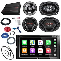"JVC KWV420BT 7"" Touch Screen Car CD/DVD Receiver Bundle Comb"