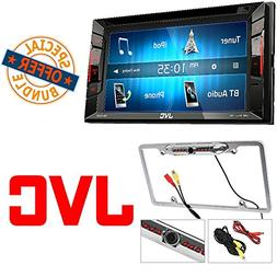 JVC KW-V25BT Double Din BT in-Dash DVD/CD/AM/FM Stereo + Cac