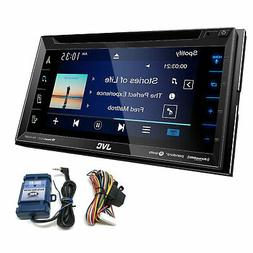 JVC KW-V350BT Double DIN Car Stereo SiriusXM, with PAC Steer