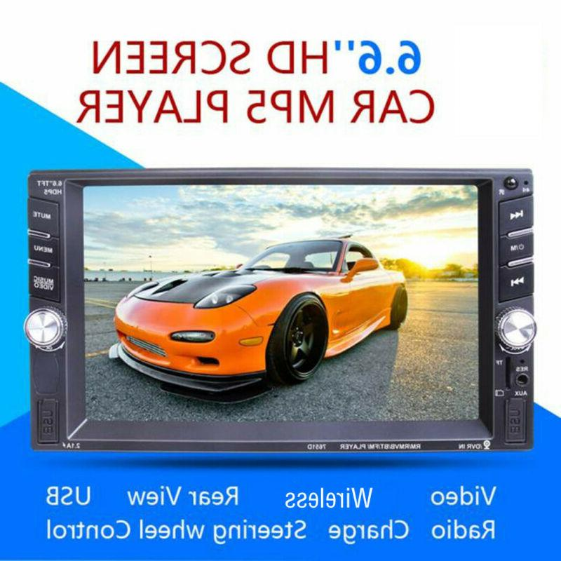 "7"" 1080P DIN Car Stereo Touch"