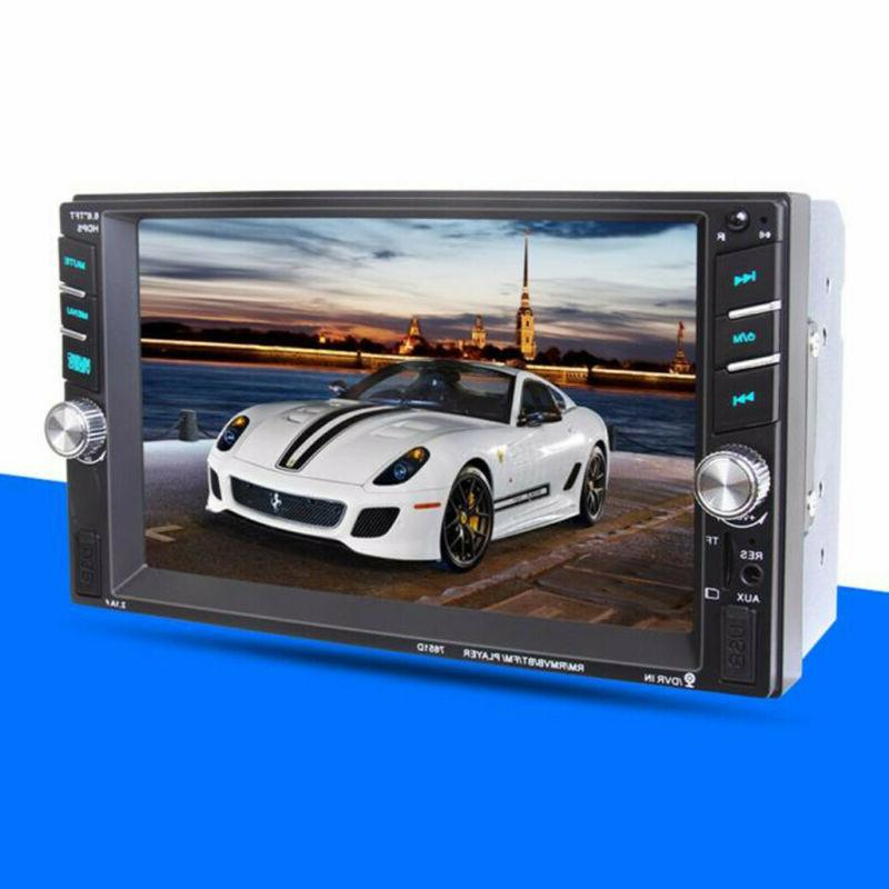 "7"" 1080P Double DIN Stereo Radio Player Touch Bluetooth"