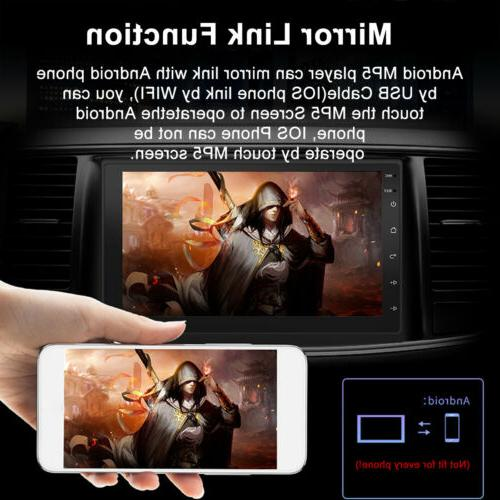 "7"" Android Double Din Navigation WIFI Player"