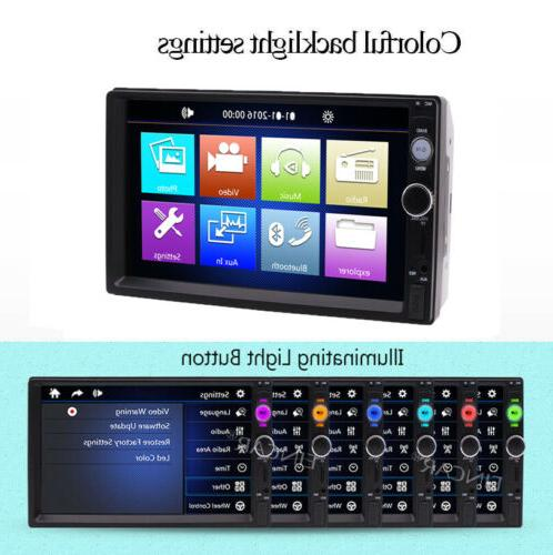 """7"""" Double Bluetooth Touch Stereo Radio FM USB +Camera"""