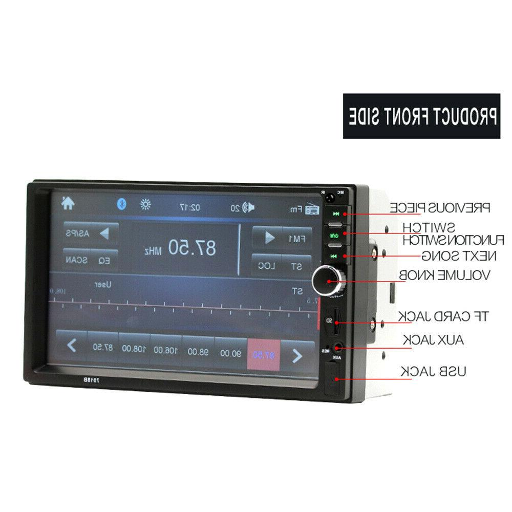 """7"""" Car Bluetooth Double MP5 AUX IN"""