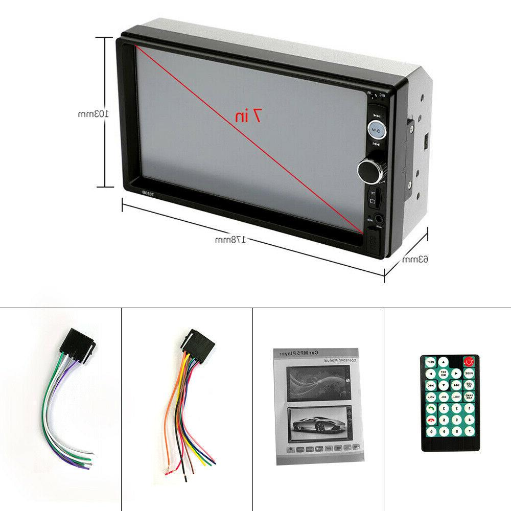 """7"""" Double 2 DIN Mirror Link Car Screen MP5 Stereo Radio"""